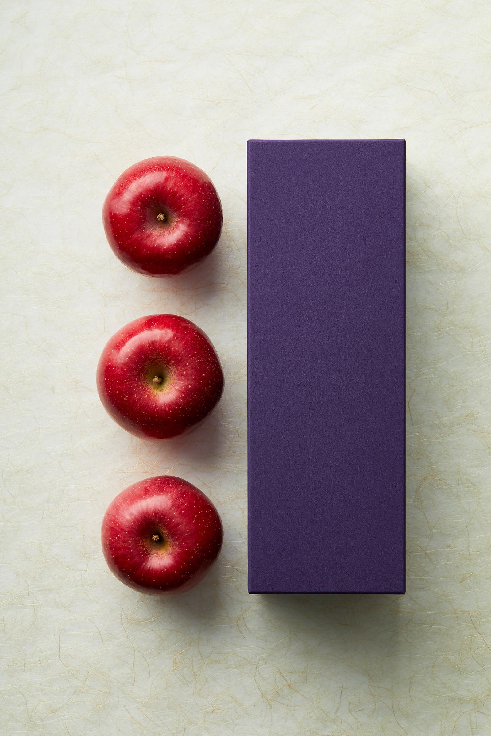 株式会社food-story-japan 商品プロデュース パッケージと林檎
